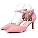 ženske sandale ukazao na nožnom runo stiletto petom pjenušava sjaj s kopčom haljina / povremeni više boja na raspolaganju