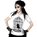 Halenka / košile Klasická a tradiční lolita Cosplay Lolita šaty Černá Tisk Trička Pro Dámský Lycra / Terylen