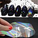 Sažetak-Ostale dekoracije- zaPrst / nožni prst-4cmX100cm each piece-6pcs nail art foilskom. -PVC