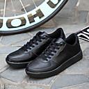 Herenschoenen-Buiten / Casual / Sport-Zwart / Rood / Wit-Leer-Modieuze sneakers / Sportschoenen