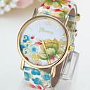 Dámské Módní hodinky Křemenný Kůže Kapela Květiny Vícebarevný Modrá Tmavě červená Modrá + žlutá Černá / žlutá Tmavě fialová