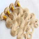 Ljudske kose plete Peruanska kosa Tijelo Wave 6 mjeseci 3 komada kosa isprepliće