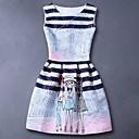 Djevojka je Umjetna svila Ležerno/za svaki dan Ljeto Proljeće Jesen Bez rukava Haljina