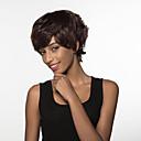 modni moderan kratka prirodna tekstura Remy ljudska kosa ruka vezana -Top periku za žene