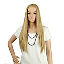 luonnollinen pitkä pituus vaalea väri suosittu suora synteettinen peruukki nainen
