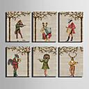 Rastegnut Canvas Print Životinja Moderna,Jedna ploha Platno Vertikalno Ispis Art Zid dekor For Početna Dekoracija