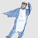 Kigurumi Pyžama Sova Leotard/Kostýmový overal Festival/Svátek Animal Sleepwear Halloween Bílá / Modrá Patchwork Flanel Kigurumi Pro Unisex