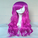 divno Cosplay perika izrazito dugi valovita sintetičke kose perika prirodna animirane strana perika 5 boja
