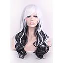 黒/白原宿オンブルかつらpelucas peloカーリー自然耐熱アニメのコスプレerruque合成かつらの女性のヘアスタイル