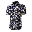 Men's Fashion Personality Printing Short Sleeved Shirt