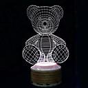 Bežični Bluetooth zvučnici 3d šarene noćno svjetlo medvjeda