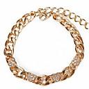 Narukvice Gipke i čvrste narukvice Narukvice s privjeskom Legura Heart Shape Srce Moda Jewelry Poklon Zlatna,1pc