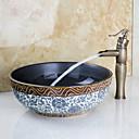 centerset JEDAN obraditi jedan rupu u antička brončana kupaonica sudoper slavinu
