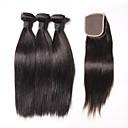 6a Malezijski djevičansko kosa svilena ravno 4 snopovi / puno ljudske kose plete Malezijski svilenu ravni ljudske kose potke