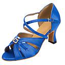 Na míru-Dámské-Taneční boty-Latina / Salsa-Semišování-Rozšiřující se-Modrá