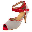 Nemoguće personalizirati-Ženske-Plesne cipele-Latino / Salsa-Filc-Stiletto potpetica-Siva