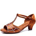 Na míru-Dětské-Taneční boty-Latina-Satén-Kubánský-Hnědá / Jiná