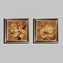 Cvjetni / Botanički Uokvireno platno / Uokvireni set Wall Art,PVC Smeđa Stalak nije uključen s Frame Wall Art