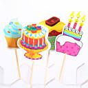 誕生日 パーティー食器-20ピース/セット ケーキ用小物 タグ ウッド 素朴なテーマ Other 無し マルチカラー