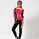 MYSENLAN® Cyklodres a čapáky Dámské Dlouhé rukávy Jezdit na koleProdyšné / Zahřívací / Rychleschnoucí / Odolný vůči UV záření /
