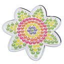 5ミリメートルHAMAビーズ用の1個のテンプレート明確ペグボードの花、ビーズヒューズビーズperler