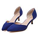 ženske cipele stilovi runo ukazao pete niska peta haljina / ured / zabava / casual cipele crno / badema / plave boje dostupne