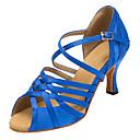 Nemoguće personalizirati-Ženske-Plesne cipele-Latino / Salsa-Filc-Deblja visoka potpetica-Plava