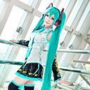 de style frappé Hatsune Miku cosplay longue perruque longueur couleur verte de haute qualité de la mode de température perruques custome