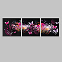 E-home® pruži dovela platnu print umjetnosti leptir učinak bljeskalice vodio set od 3
