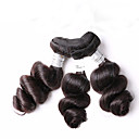 人間の髪編む ブラジリアンヘア ルーズウェーブ 18ヶ月 3個 ヘア織り