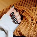 noktiju trake kratka crna mat elegantan i seksi 24 kom / set