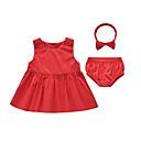 Dijete Komplet odjeće Ležerno/za svaki dan,Jednobojni-Pamuk-Proljeće / Jesen-Crvena
