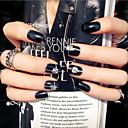 noktiju trake kratka crna modni punk stil 24pcs / set