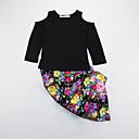 Djevojčice Poliester Cvjetni print Ležerno/za svaki dan Ljeto Dugih rukava Setovi Komplet odjeće
