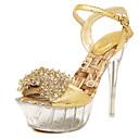 Women's Sandals Summer Platform PU Wedding / Party & Evening / Dress Stiletto Heel Crystal / Buckle / Crystal Heel Gold Others