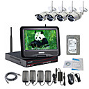 strongshine® bezdrátová IP kamera s 960p / infračervených / nepromokavého a NVR s 10.1inch LCD / 2TB dohled hdd souprav