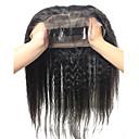 360 čelní Rovné, bláznivé Lidské vlasy Uzavření Středně hnědá Švýcarská krajka 60-120g gram Drobná Cap Velikost