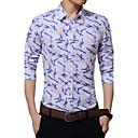 Majica Muškarci,Vintage / Jednostavno / Ulični šik Formalno / Rad / Plus veličine Jednobojni / Geometrijski oblici-Dugih rukavaČetvrtasti