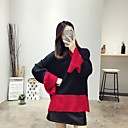 Žene Jednostavno / Slatko Ležerno/za svaki dan / Izlasci Regularna Pullover,Plava / Crna / Zelena Color block Okrugli izrez Dugih rukava