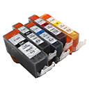 bloom®520bk + 521bk-521c / m / y kompatibilna spremnika s tintom za canon ip3600 / IP4600 / iP4700 / mx860 / MX870 puna tinte (5 boja 1