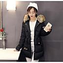 Dámské Standardní S vycpávkou Jednoduché Běžné/Denní Jednobarevné-Kabát Polyester Bavlna Dlouhý rukáv Bílá / Černá