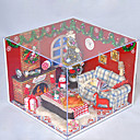 主導のすべての家具ライトランプを含むクリスマスのロマンチックな贈り物マニュアル音楽ダストカバーモデルDIYの木のドールハウス