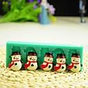 Vánoční sněhulák s šátkem fondant dort čokoládový Silikonová forma dort dekorace nástrojů, l12 * W4 * h1.3cm