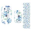 krásná květina víla modré růže Nail Art samolepky