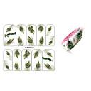 10pcs paunovo perje dizajn nail art naljepnice bop / 300