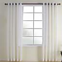 Dva panely Window Léčba Moderní , Kostkovaný Ložnice Polyester Materiál Sheer Záclony Shades Home dekorace For Okno
