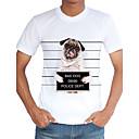 Tee-shirt Homme,Imprimé Décontracté / Quotidien Plage Vacances Vintage simple Chic de Rue Printemps Eté Manches Courtes Col Arrondi