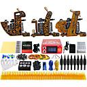完全なタトゥーキット ライニングとシェーディングのために3×合金タトゥーマシン 3 タトゥーマシン LCD電源 インクは別々に出荷します