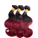 3個/ロット暗赤色オンブルヘアボディ波卸売ブラジル髪、未処理と柔らかい髪波状ブラジルオンブル髪