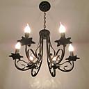 Evropský styl zjednodušený lustr ložnice restaurace kované železo svíčka lampa obývací pokoj lampa dekorativní lampa